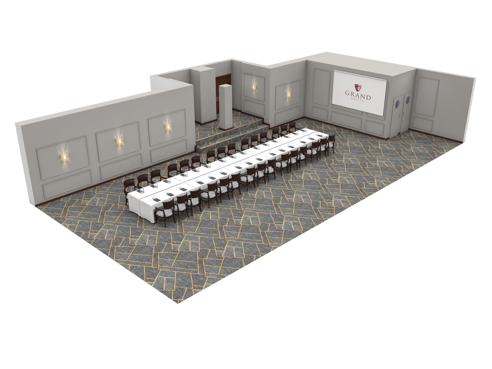 Grand Hotel | Dublin | Moldowney suite board room layout at grand hotel malahide
