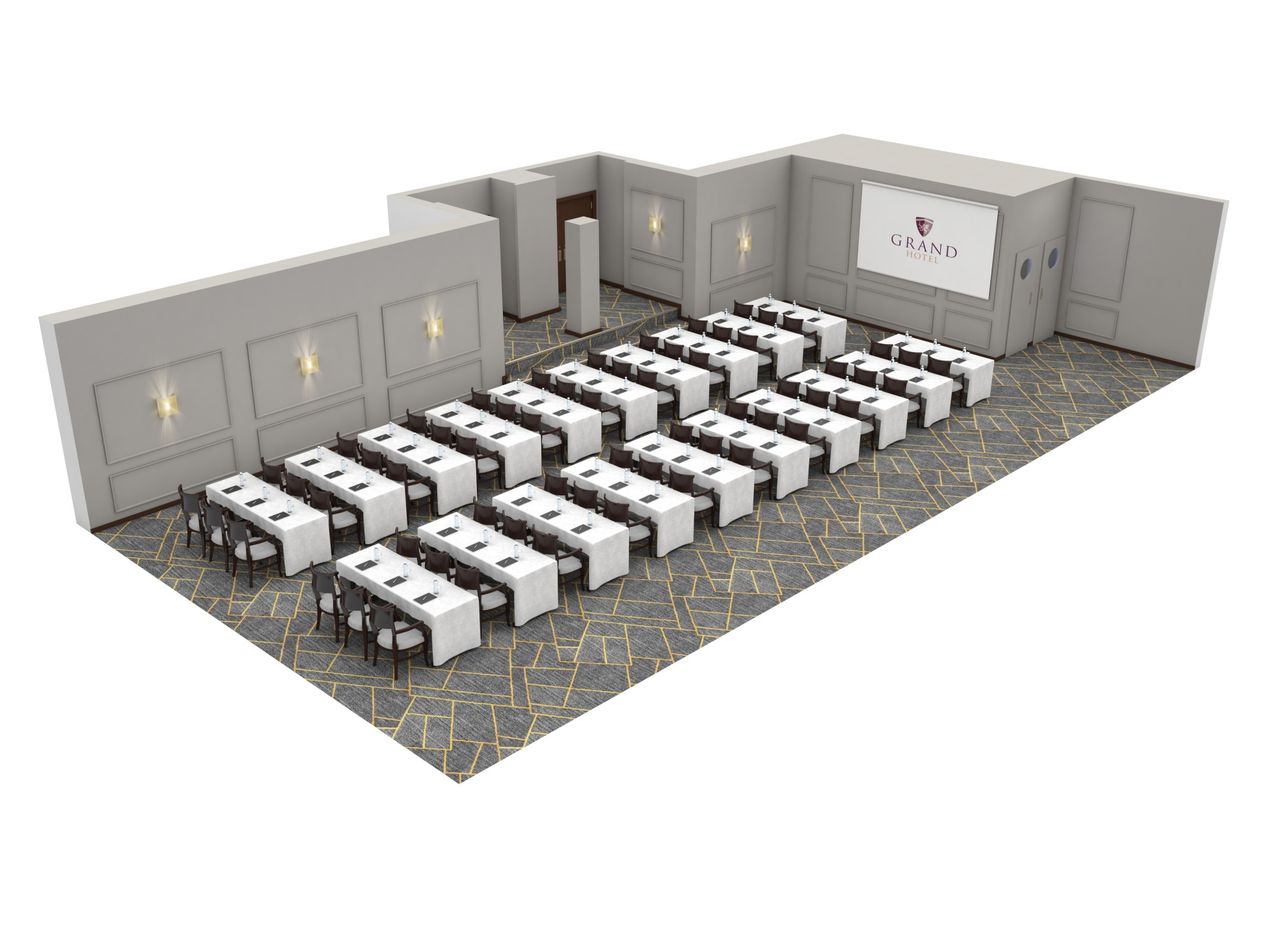 Grand Hotel | Dublin | Moldowney suite classroom layout at grand hotel malahide